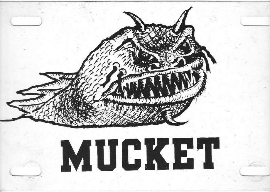 """Haddam writer Art Wiknik Jr., who a story about the local folk creature, the Higganum Mucket, in early 1980s, paid an illustrator $100 to conjure up the """"fearsome"""" fish said to inhabit the waters of Candlewood Lake. Photo: Contributed Photo"""