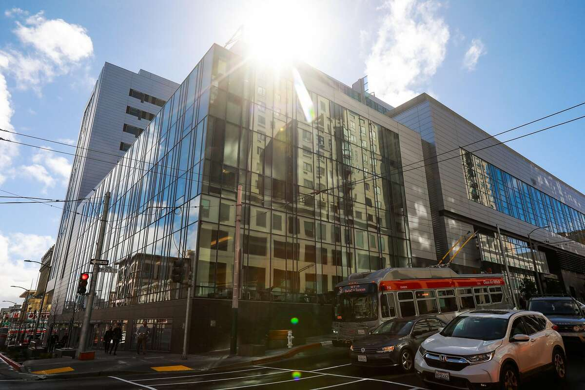 The California Pacific Medical Center is seen from Post Street and Van Ness Avenue in San Francisco, California, on Wednesday, March 6, 2019.