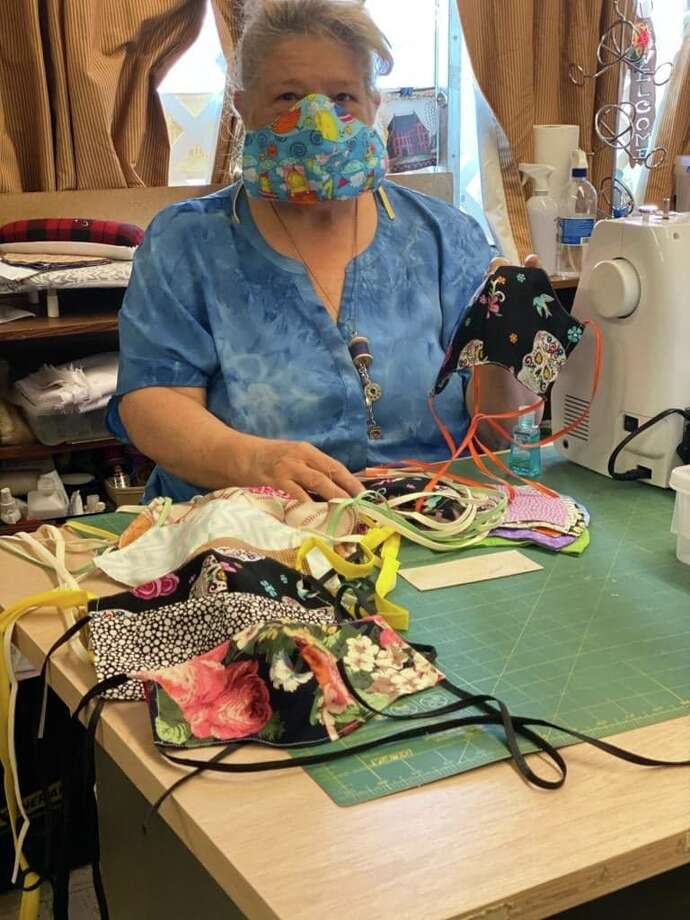 Cindy Wolfe and a team of local seamstresses are working to create masks for local caregivers amid the shortage caused by ongoing demand amid the COVID-19 pandemic. Photo: Courtesy Photo/Cindy Wolfe