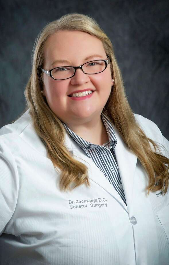 General Surgeon Julie Zachwieja is half of a Huron County medical power couple. Zachwieja lives in Ubly with her husband Nicholas Tobianski, who is a physician's assistant. (Courtesy Photo)
