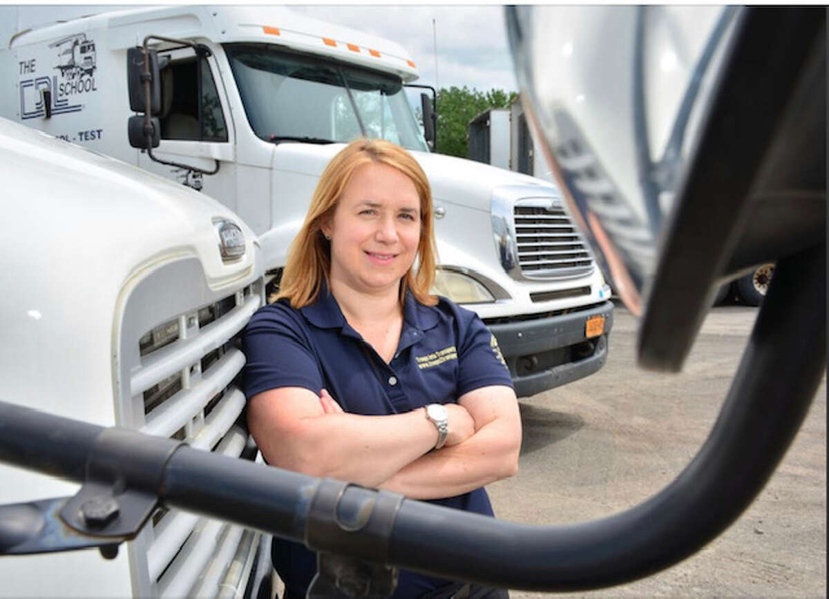 Click through the slideshow for 20 things you don't know about Andrea Hanley of the truck-driver training business, CDL School. For more, visit Kristi's blog.