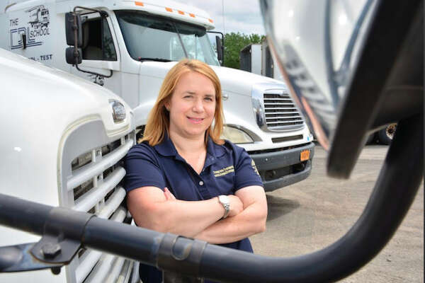 Andrea Hanley and her brothers own The CDL School. They are the third generation to own the business. Photo by Donna Abbot-Vlahos.
