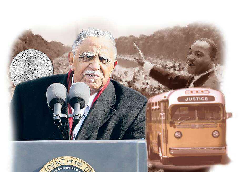 Considered the dean of civil rights veterans, Joseph Lowery led the Southern Christian Leadership Conference for two decades before retiring in 1997. Photo: Associated Press Photo Illustration
