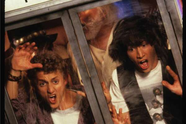 """Bill and Ted's Excellent Adventure"" with Alex Winter, left, and Keanu Reeves."