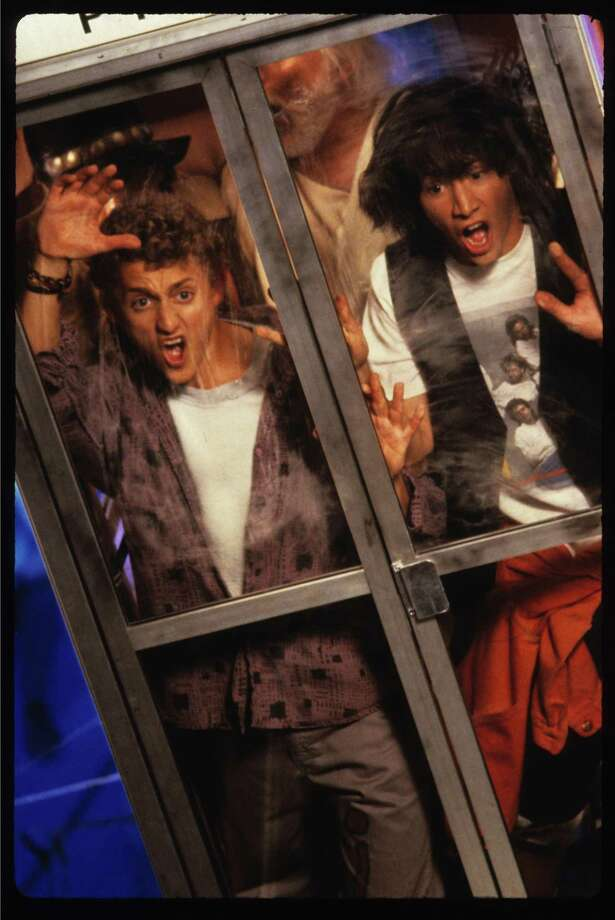 """""""Bill and Ted's Excellent Adventure"""" with Alex Winter, left, and Keanu Reeves. Photo: Phil Caruso / Orion Pictures Corp / handout slide"""