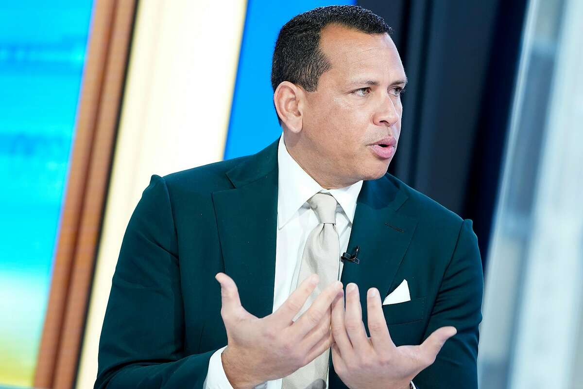 """NEW YORK, NEW YORK - AUGUST 08: Former shortstop and third baseman for the New York Yankees Alex Rodriguez """"A-Rod"""" visits """"Mornings With Maria"""" at Fox Business Network Studios on August 08, 2019 in New York City. ~~"""