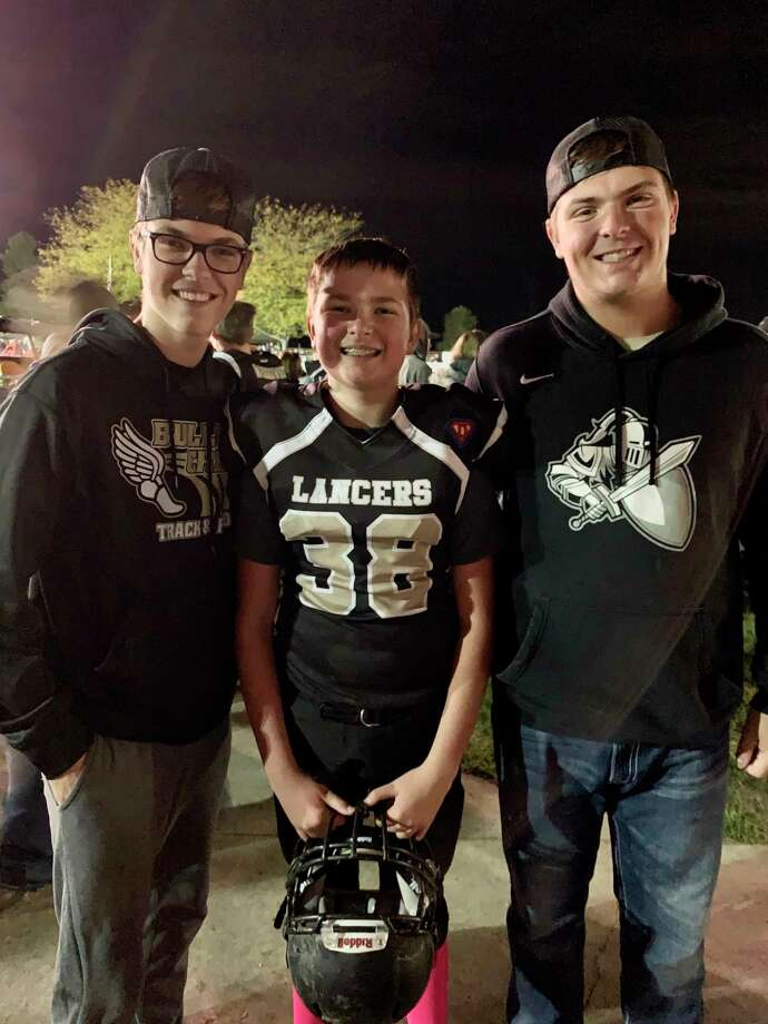 Pictured, from left, are brothers Drew, Brady and Aidan Nestle. (Photo provided)
