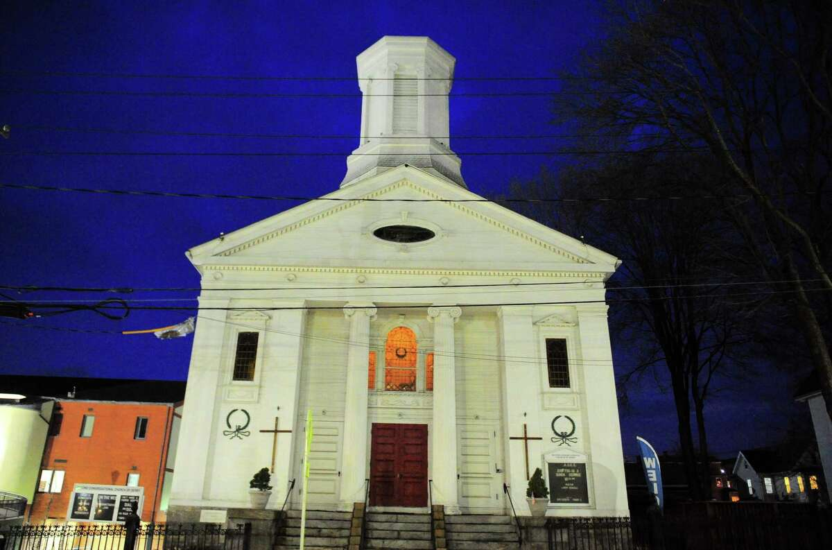 The Second Congregational Church in Derby on Wednesday.