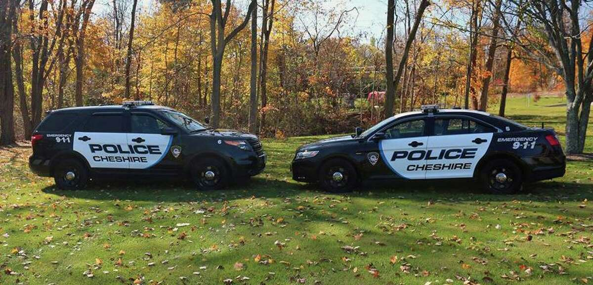 File photo of Cheshire, Conn., police vehicles.