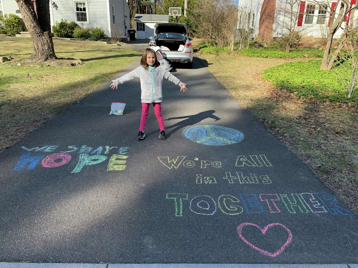 Six-year-old Quinn Murphy of Delmar wanted to spread a little love to walkers passing the family's house last week. With a little help from mom and dad she created this positive message. The amount of people who stopped, smiled, and told her great job was so worth it, said her mother, Mary Kay Murphy.