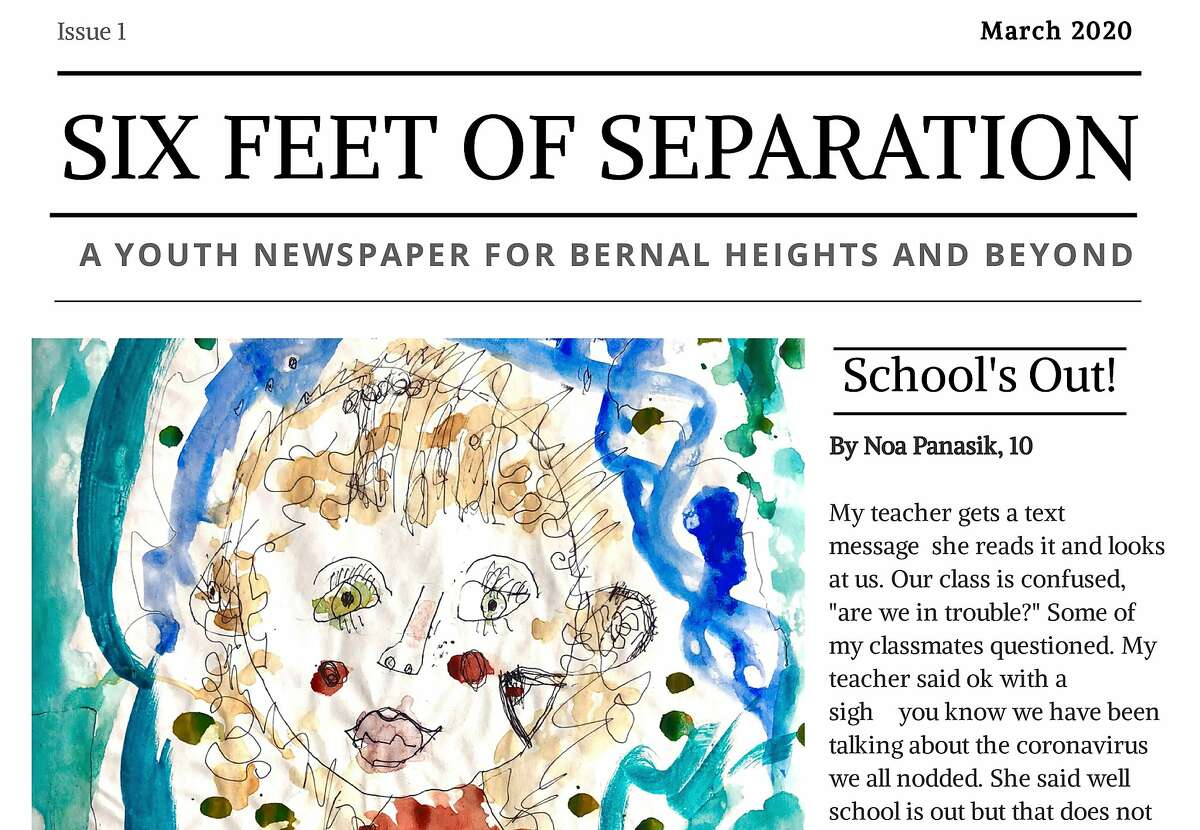 The first edition of Six Feet of Separation, a San Francisco newspaper staffed entirely by children, includes more than 40 submissions.