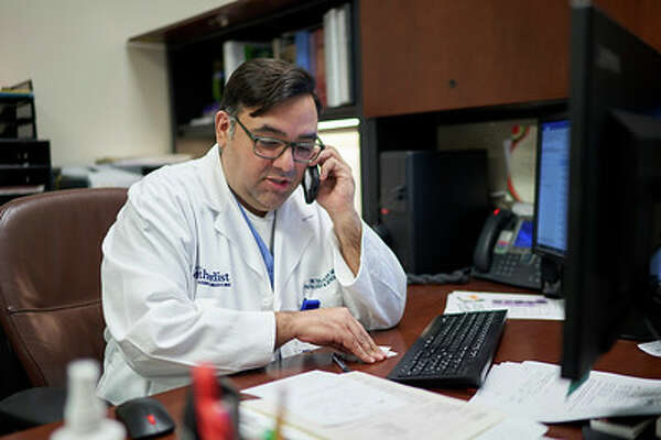 Eric Salazar, MD, PhD. with the department of pathology and genomic medicine at the Houston Methodist Research Institute and Houston Methodist recruits recovered COVID-19 patients willing to donate plasma in hopes of saving the lives of critically ill COVID-19 patients.