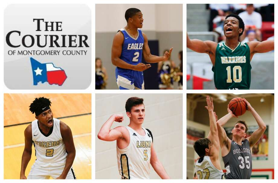 New Caney's Zion Childress, TWCA's Bakari LaStrap, Conroe's Michael Phoenix II, Lake Creek's Pierce Spencer and Magnolia's Lawson Lowry are The Courier's nominees for Player of the Year. Photo: Staff Photos