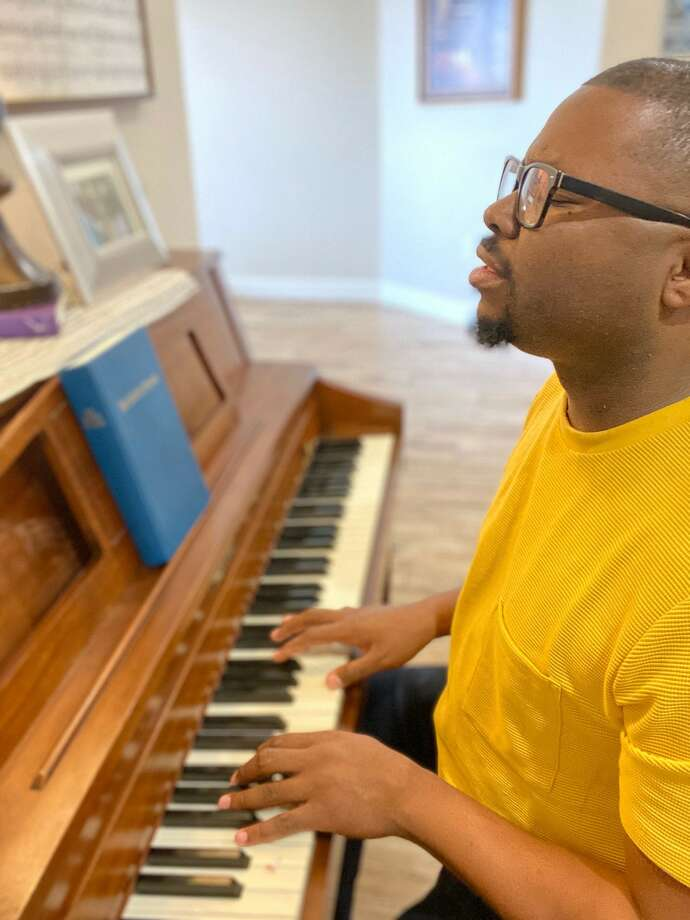 In March, Albert Hall, the music and youth minister at First Baptist Church in Stanton, was quarantined for 14 days after traveling to Spain on a mission trip. During this time, he is worshipping live on Facebook. Sunday will be the 100th day of Hall's music worship. He said he knew he wanted to do something special to mark the date -- an outdoors event in which people could come together in praise. Photo: Courtesy Photo