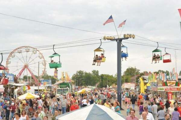 Illinois State Fair Midway in Springfield