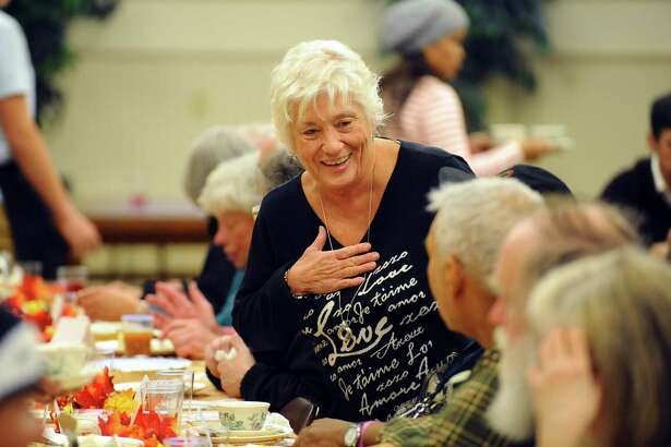 Marion McGarry, shown here at the First Congregational Church's 2016 Thanksgiving Day dinner in Stamford, died Sunday, March 29, 2020. Mayor David Martin said McGarry's death was unrelated to the ongoing COVID-19 public health emergency.