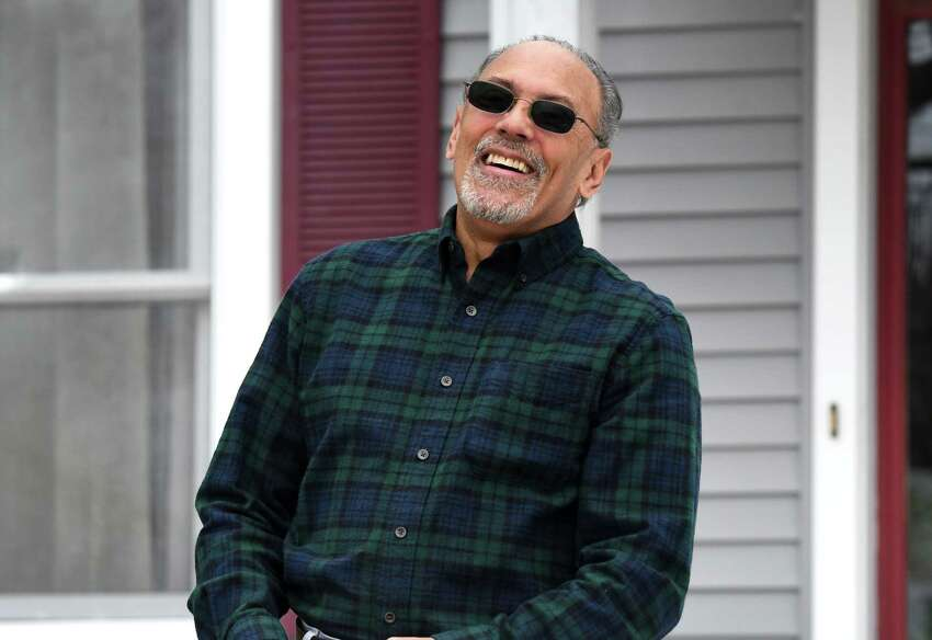 Pedro Diaz is pictured outside his home on Wednesday, March 25, 2020, in Rensselaer, N.Y. (Will Waldron/Times Union)