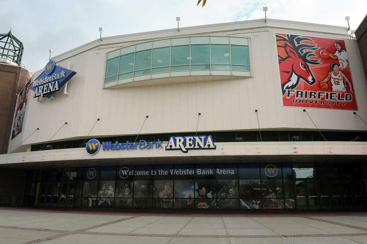 Exterior of the Webster Bank Arena, in Bridgeport, Conn., Oct. 7, 3013.