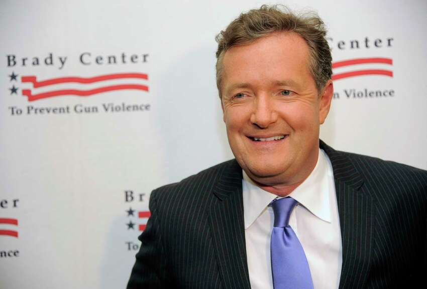 Honoree Piers Morgan poses at the Brady Campaign to Prevent Gun Violence Los Angeles Gala at The Beverly Hills Hotel on Tuesday, May 7, 2013 in Beverly Hills, Calif. (Photo by Chris Pizzello/Invision/AP)