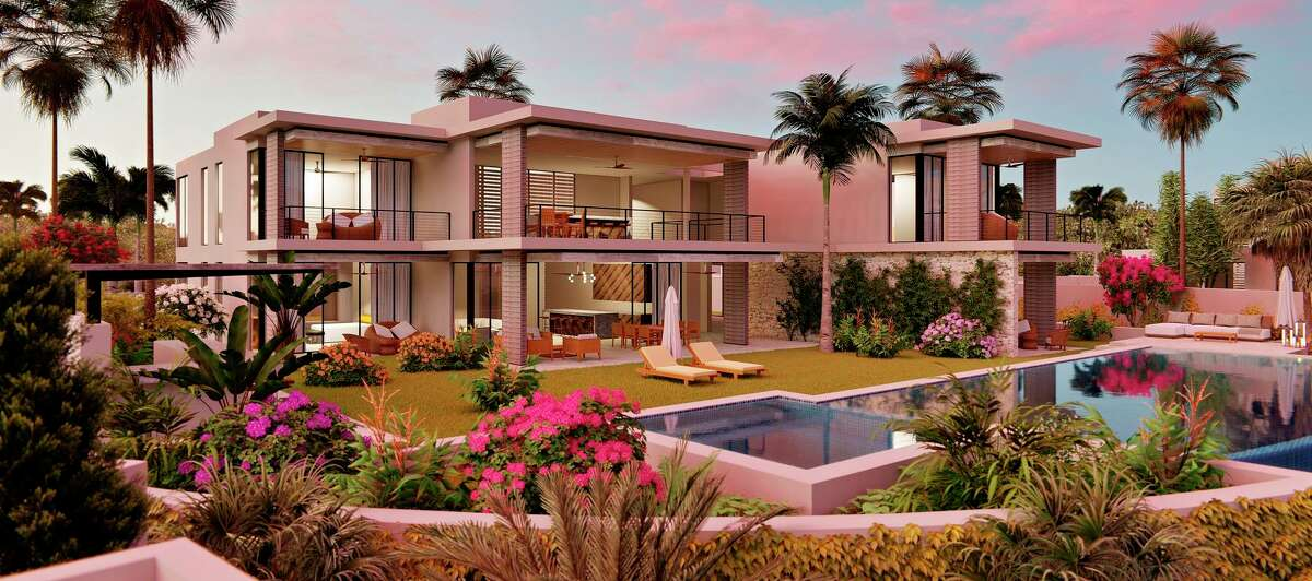 Marea 1 Beach Casita at Susurros Del Corazón is a luxurious four-bedroom with a pool and hot tub that's expected to be completed in 2021.