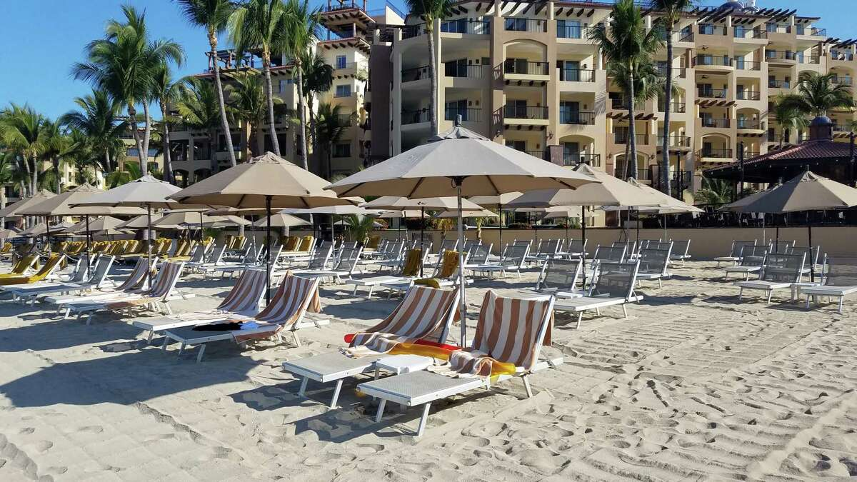 Martin and Ellen Wakesberg of Burnt Hills provided a photo of the beaches at Nueva Vallarta Mexico, as seen on March 22. The beaches are usually crowded at this time of year.