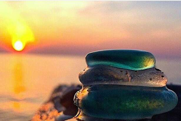 Erin LaMont of Bear Lake shared her photos of beach glass, rocks and other treasures she finds in her beachcombing trips. LaMont said she often searches beaches in Manistee County and outside the area seeking treasures.