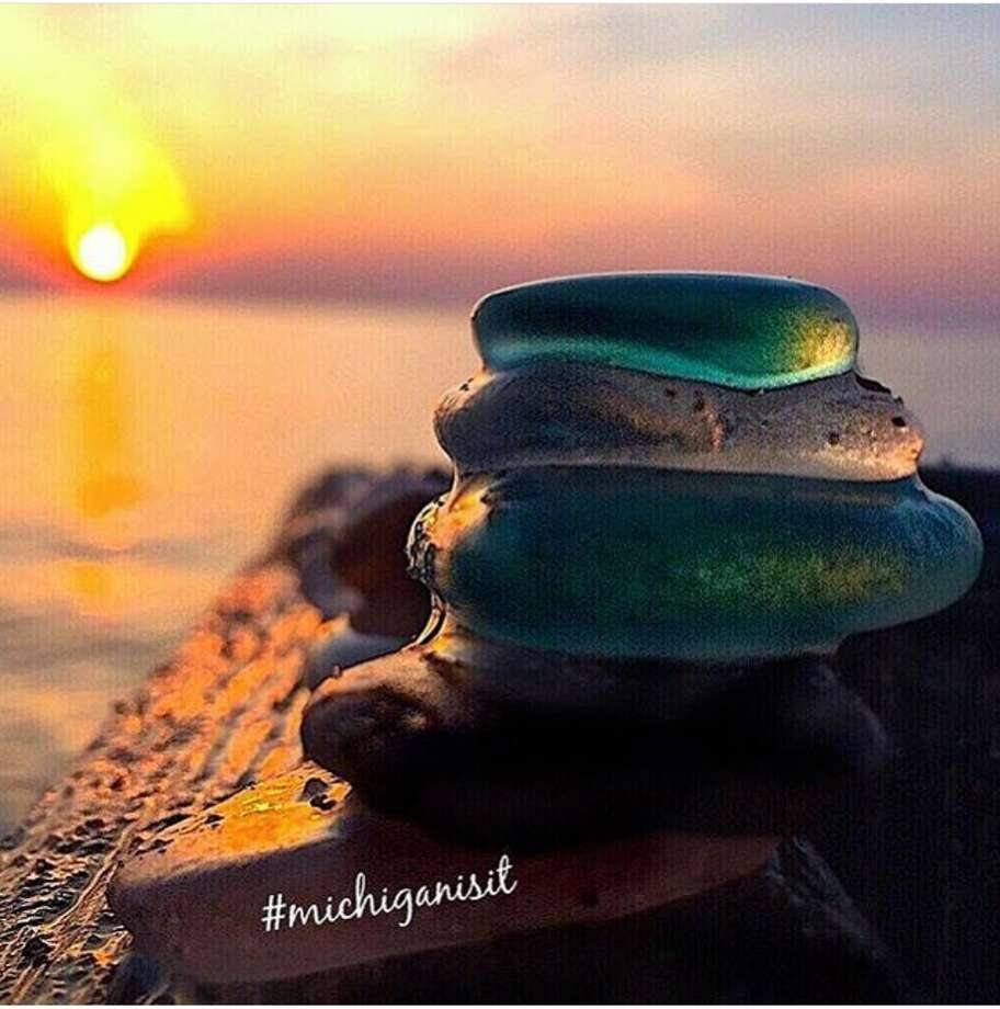Erin LaMont of Bear Lake shared her photos of beach glass, rocks and other treasures she finds in her beachcombing trips. LaMont said she often searches beaches in Manistee County and outside the area seeking treasures. Photo: Courtesy Photo