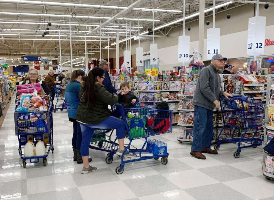 """Before the """"Stay Home, Stay Safe"""" executive order was issued, locals headed to Meijer to stock up on products. Fanklin said this created longer than normal wait times for those using Shipt. Photo: File Photo"""