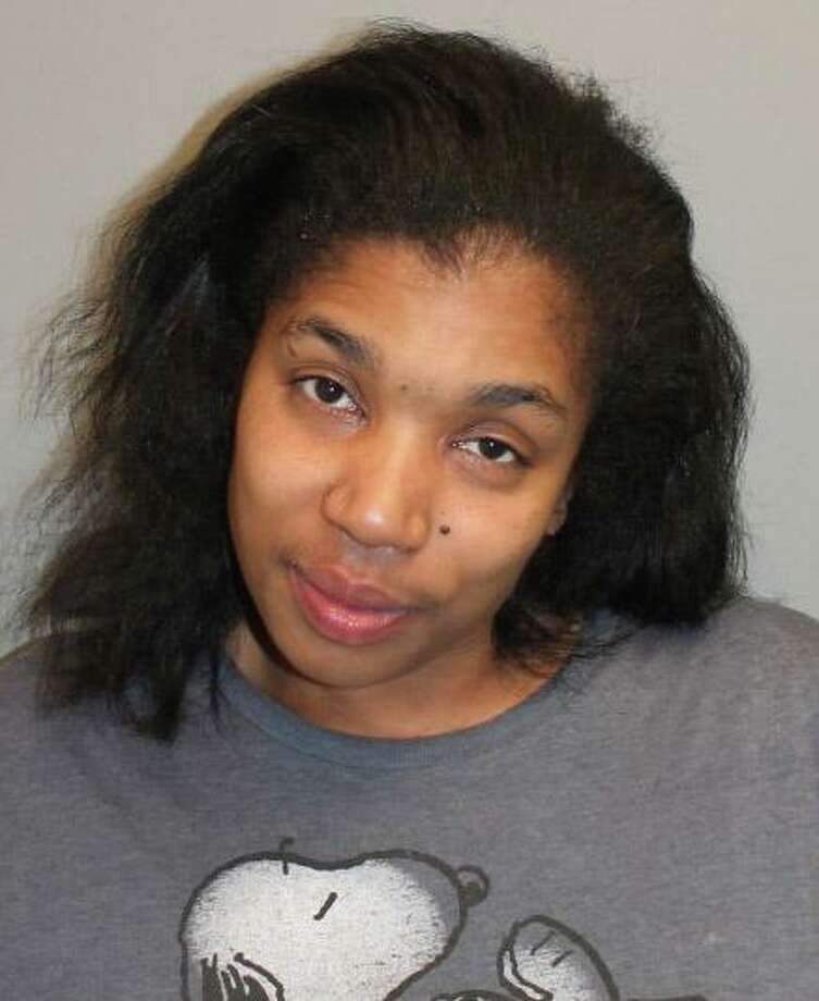 Three people have been arrested in connection with a burglary and assault in a Roodner Court apartment on Saturday, March 28, 2020. Regina Russell, 35, was charged with assault in the third degree and first-degree burglary. Photo: Norwalk Police Photo