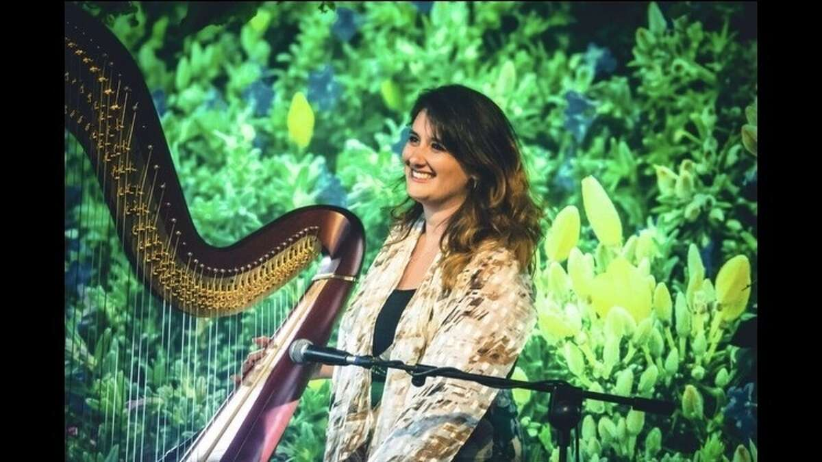 Harpist Rosanna Moore performs as part of the Lake George Music Festival Alumni Associations