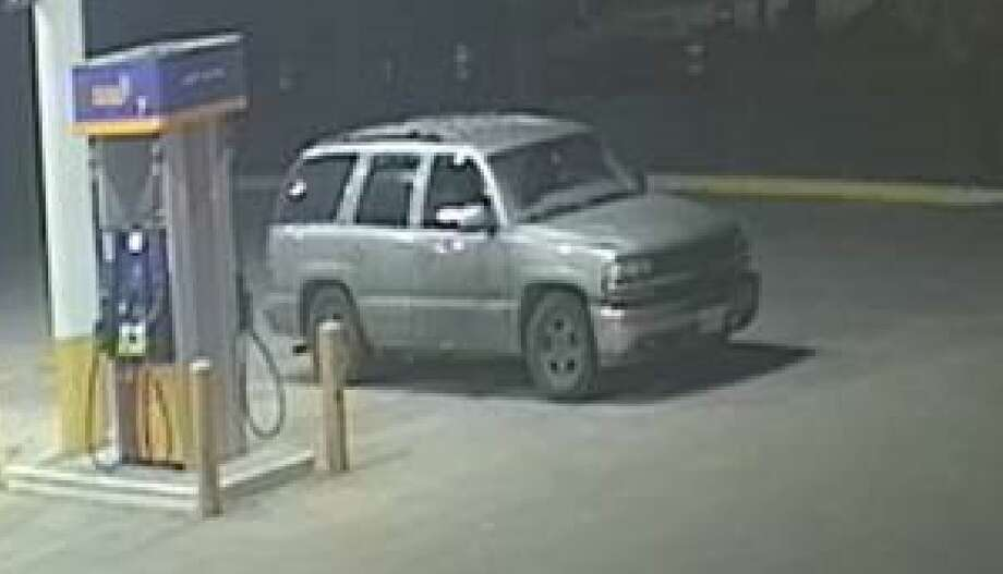 This light-colored Tahoe is the vehicle of interest linked to the fatal shooting. Photo: Baytown Police Department