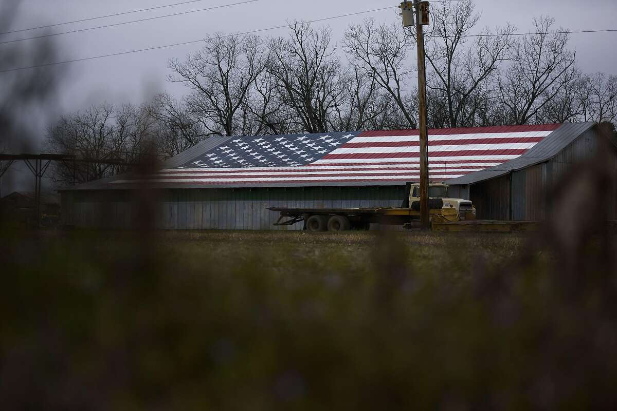 FAYETTEVILLE, NC - MARCH 03: A barn is seen painted with the American flag on March 3, 2020 in Fayetteville, North Carolina. 1,357 Democratic delegates are at stake as voters cast their ballots in 14 states and American Samoa on what is known as Super Tuesday. (Photo by Melissa Sue Gerrits/Getty Images)