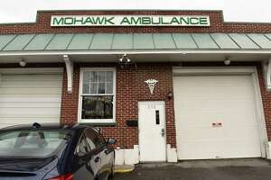 Exterior of the Mohawk Ambulance on Quail St. on Monday, March 30, 2020 in Rensselaer, N.Y. (Lori Van Buren/Times Union)