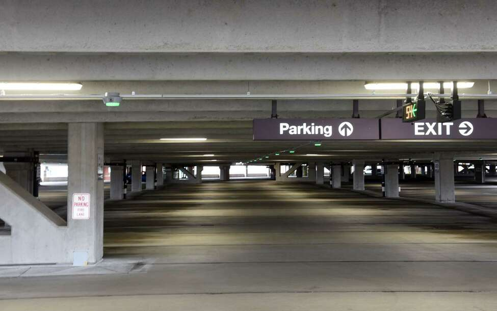 Parking lots at Albany International Airport are virtually empty during the coronavirus outbreak on Monday, March 30, 2020, in Colonie N.Y. (Will Waldron/Times Union)