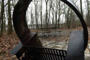 Campsites are closed for the season at Thompson's Lake State Park Campground on Monday, March 30, 2020, in New Scotland, N.Y. (Will Waldron/Times Union)