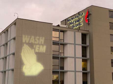 Methodist Hospital | Metropolitan displayed a hand-washing reminder on Thursday and plans to keep the message up every night during the COVID-19 pandemic. San Antonio hospitals are preparing for the worst, but state officials are still concerned about whether there will be enough nurses to care for a surge of patients.