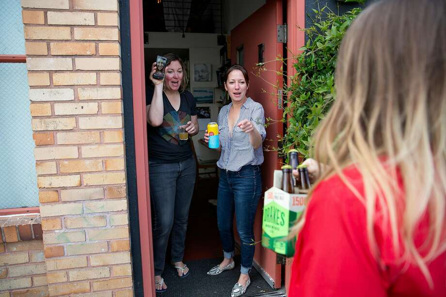 Alcohol delivery, including cocktails, has become a popular way for Bay Area residents to keep drinking while sheltering. Photo: Brittany Hosea-Small / Special To The Chronicle