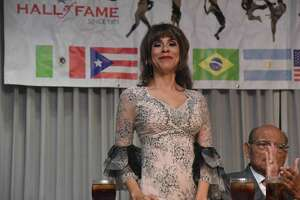 Maribel Garcia, shown Jan. 26, 2019 during the Latin American International Sports Hall of Fame induction ceremony, was scheduled to compete in the 2020 Tokyo Marathon but has to wait until 2021 to run the race due to the coronavirus.