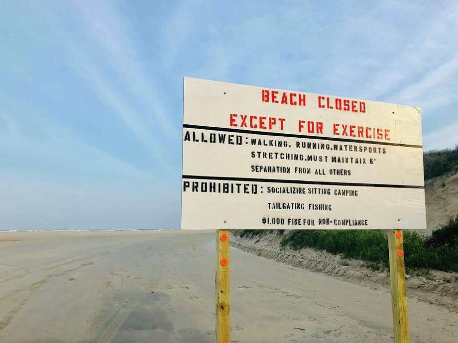 Port Aransas beach has temporarily closed and is only open for exercising activities, according to city officials. Photo: Courtesy