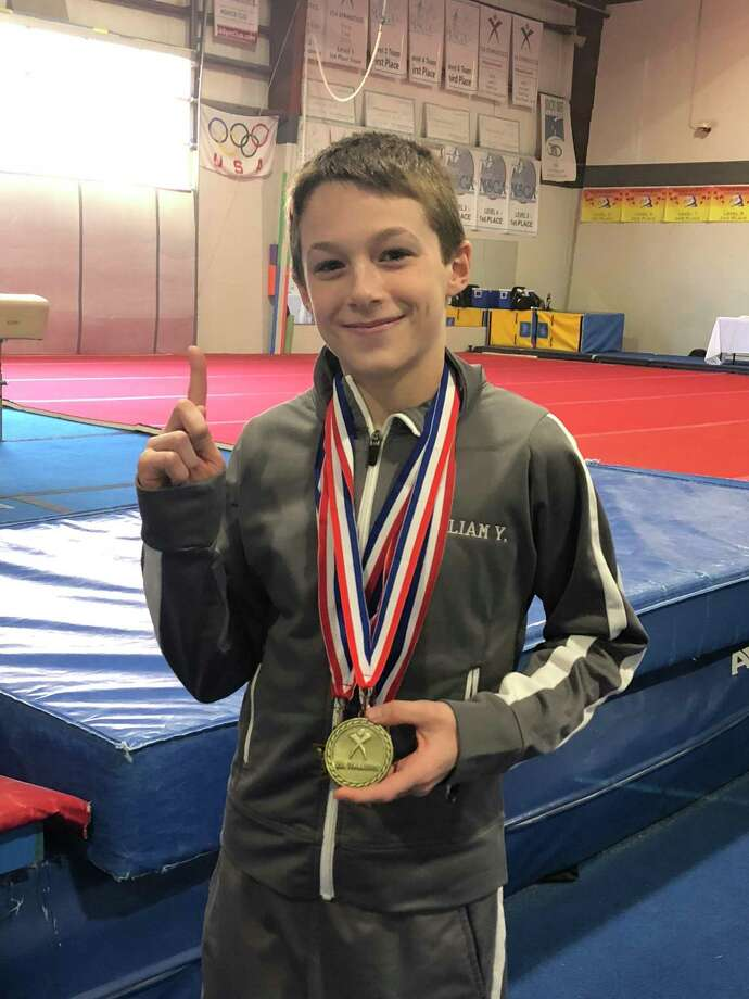 Perry Hill School sixth grader Will Yearsley earned All Around CT state champion honors at the Connecticut State Men's Gymnastics Competition March 8. Photo: Contributed Photo / Connecticut Post