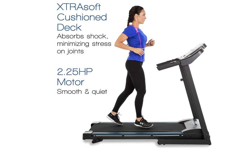 XTERRA Fitness TR150 Folding Treadmill Black, $349.99