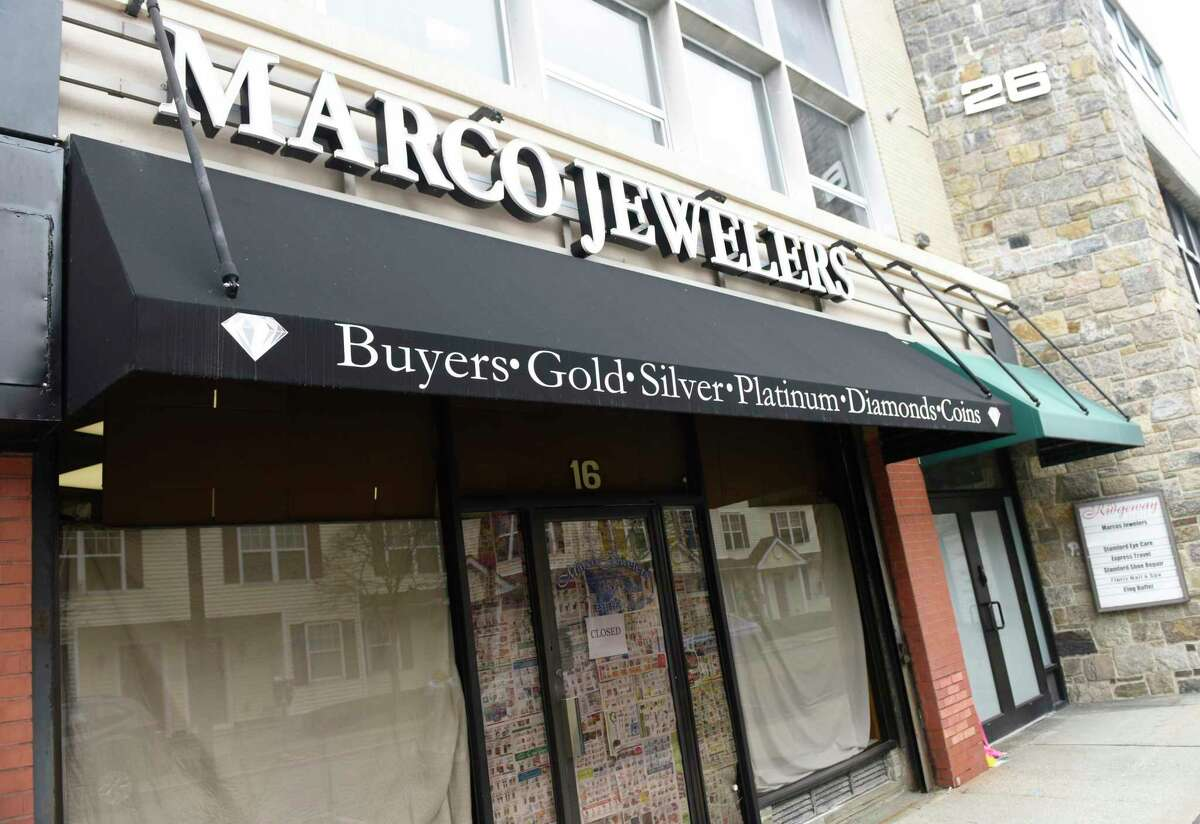 Marco Jewelers was closed in Stamford, Conn. Monday, March 30, 2020 after the store's owner, Mark Vuono, was killed during an armed robbery.