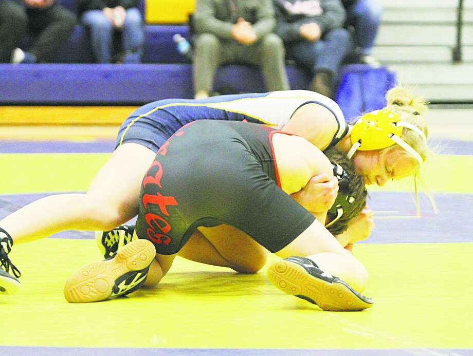 Manistee's 103-pound sophomore Raegan Coddenwrestled her way tothe All-Lakes 8 Conference team. (News Advocate file photo) Photo: News Advocate File Photo