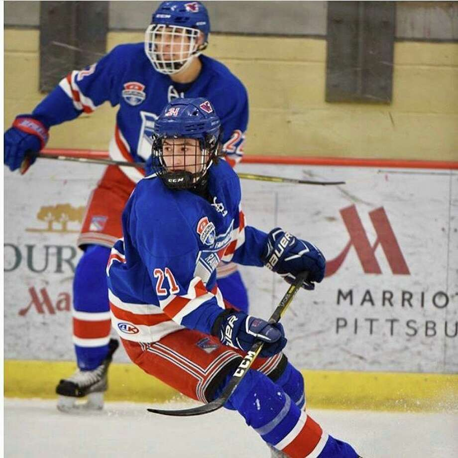 Fairfield's Charlie Leddy fhas been chosen to be a part of USA Hockey's National Team Development Program. The 23 players, all born in 2004, will compete as the U.S. National Under-17 Team during the 2020-21 season. Photo: Submitted