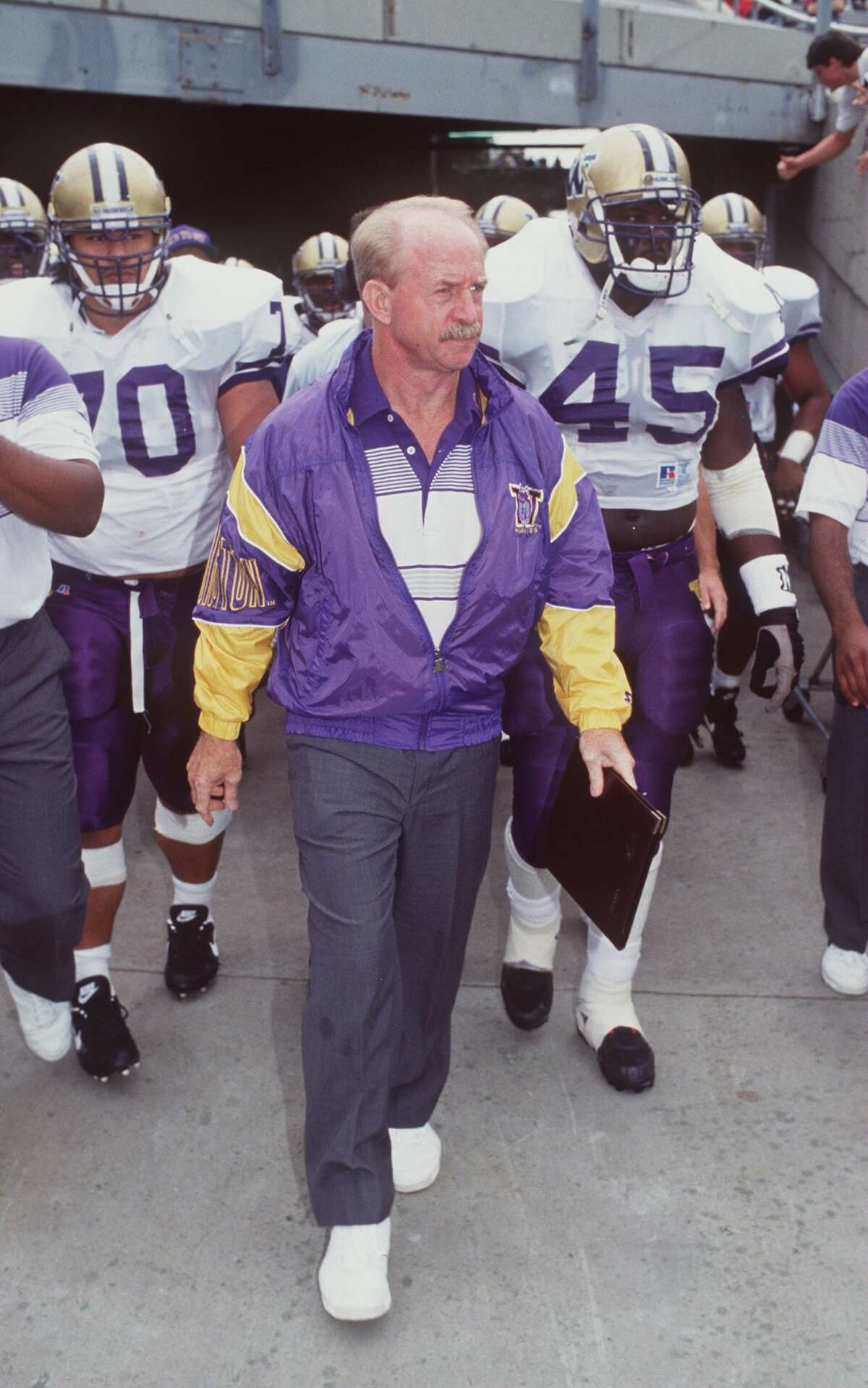 1995 SEASON As the Huskies head coach from 1993 to 1998, Lambright had his best win-loss record in '96 (9-3). But '95 was essentially his best year leading the program. Washingon that season won a share of the Pac-10 title, his only conference championship as head coach. The Huskies went 7-4-1 overall and 6-1-1 in conference play. Lambright complied a 44-25-1 record in six years as head coach, with no losing seasons.