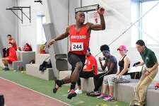 University of Hartford long jumper Terrel Davis.