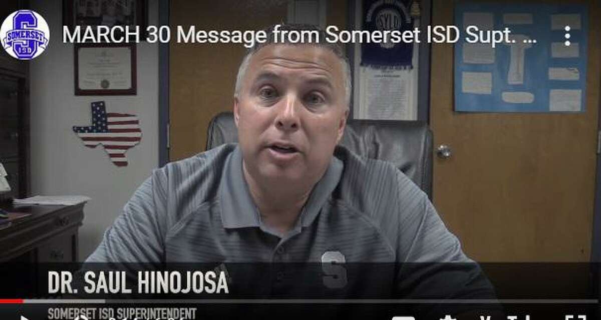 Somerset ISD Superintendent Saul Hinojosa announces its graduation ceremony will be postponed and explains changes to the grading system amid coronavirus.