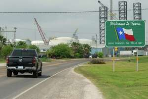 Just after noon on Monday, there were no restrictions for travelers crossing the border from Louisiana to Texas along State Highway 82. Texas governor Greg Abbott ordered that all personal travel from Louisiana must be quarantined for 14 days before being admitted to the state as of noon, March 30, 2020. Photo made on March 30, 2020. Fran Ruchalski/The Enterprise