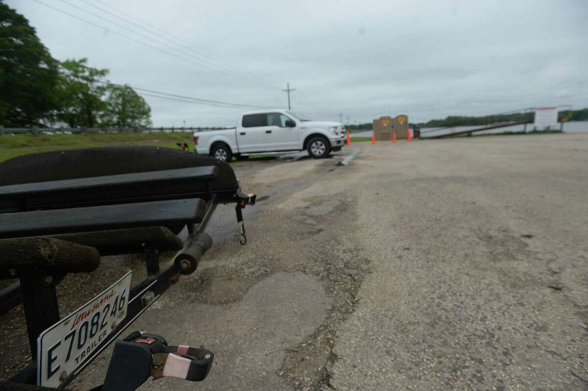 No boat ramp closures or checks were in place at Toledo Bend Lake, which is shared by Texas and Louisiana. A small number of boaters, including several trucks pulling boat trailers from Louisiana, were in lots at public boat ramps. Photo taken Monday, March 30, 2020 Kim Brent/The Enterprise
