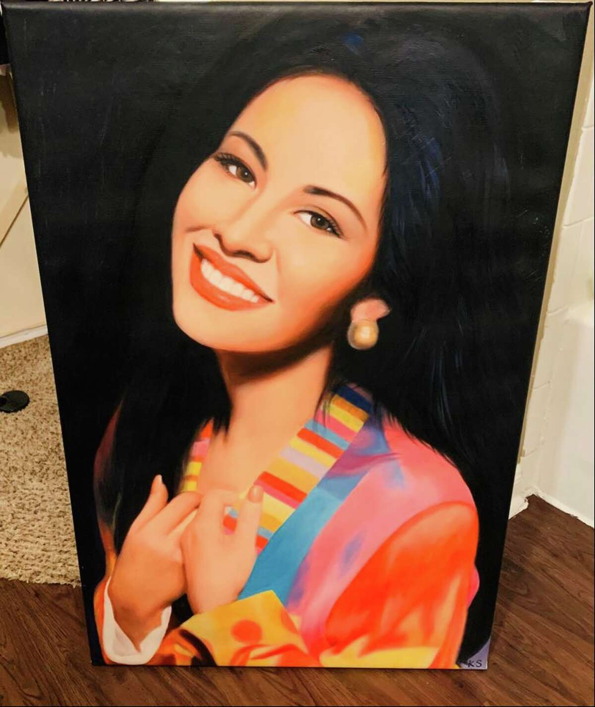 A Selena painting belonging to LJ Reyna in Laredo.
